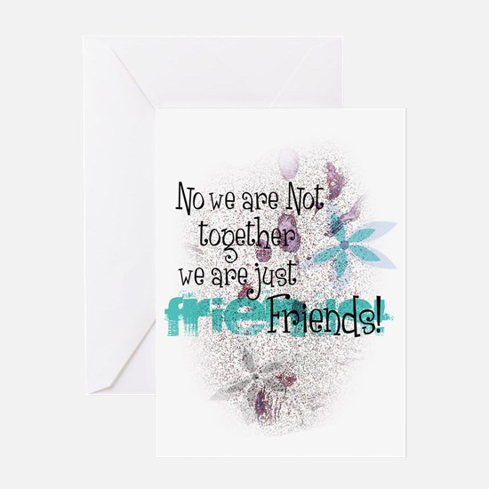 Friends tee with grunge Greeting Card