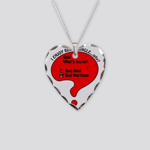 The Single Life Necklace Heart Charm
