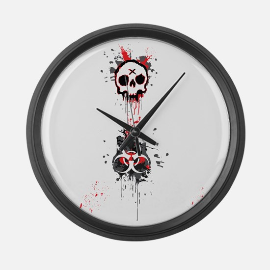 Here zombie, zombie Large Wall Clock