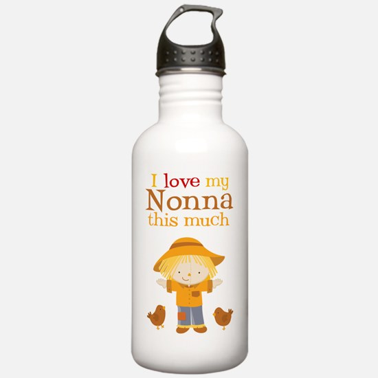 Scarecrow I Love Nonna Water Bottle