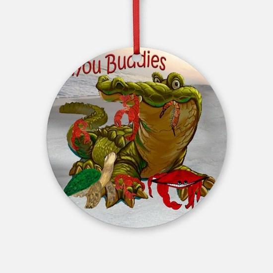 Bayou Buddies Round Ornament