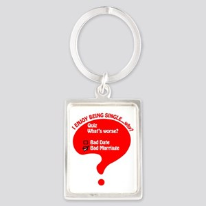 The Single Life Portrait Keychain