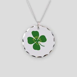 Kiss me Necklace Circle Charm