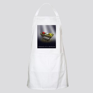 Cheeses in a Manger poster Apron