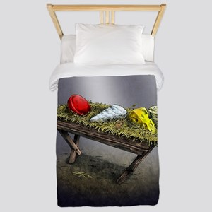 Cheeses in a Manger poster Twin Duvet