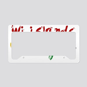 wi islands...wi ting License Plate Holder