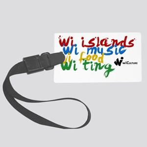 wi islands...wi ting Large Luggage Tag