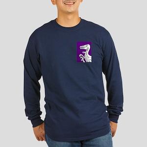 Hungry Purple Velociraptor Long Sleeve Dark T-Shir