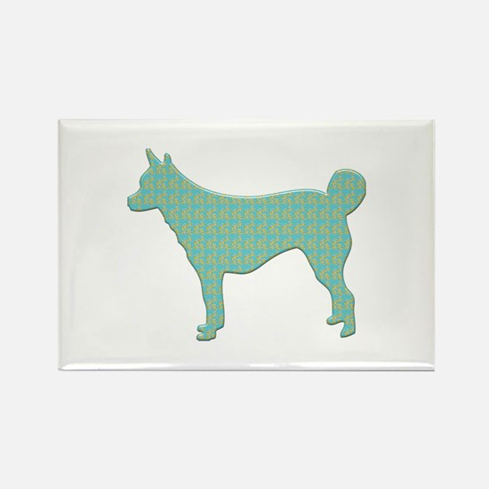 Paisley Lundehund Rectangle Magnet (10 pack)