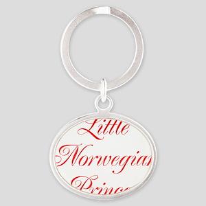 Little Norwegian Princess Oval Keychain