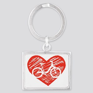 Bicycle Heart Landscape Keychain