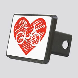 Bicycle Heart Rectangular Hitch Cover