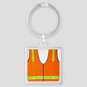 reflective vest safety halloween c Square Keychain