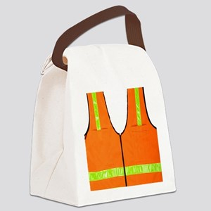 reflective vest safety halloween  Canvas Lunch Bag