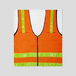 reflective vest safety halloween cos Throw Blanket