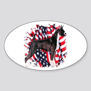 Boxer 6 Oval Sticker