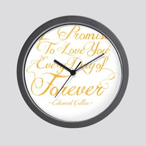 I Promise To Love You Every Day of Fore Wall Clock