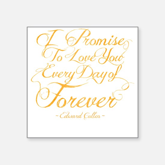 "I Promise To Love You Every Square Sticker 3"" x 3"""
