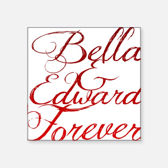 "Bella  Edward Square Sticker 3"" x 3"""