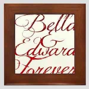 Bella  Edward Framed Tile