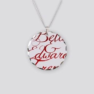 Bella  Edward Necklace Circle Charm