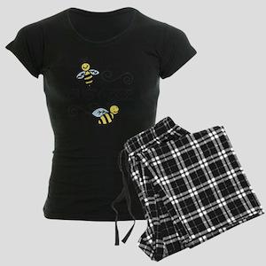 Busy Bees Women's Dark Pajamas