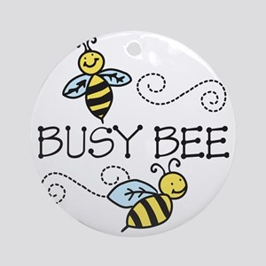 Busy Bees Round Ornament