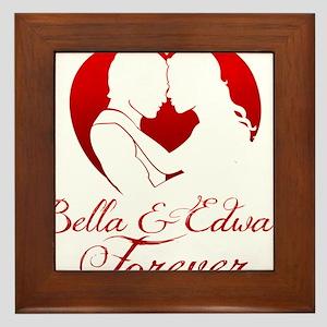 Bella  Edward Forever W/Heart Framed Tile