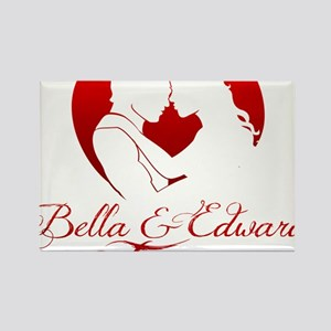 Bella  Edward Forever W/Heart Rectangle Magnet