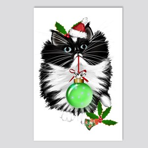 A Tuxedo Merry Christmas Postcards (Package of 8)