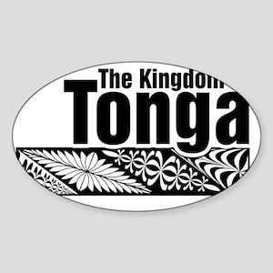 The Kingdom of Tonga - kupesi desig Sticker (Oval)