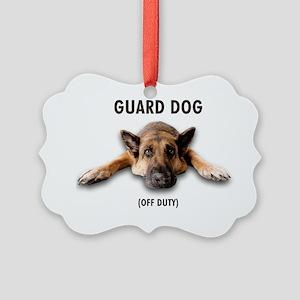 Guard Dog Picture Ornament