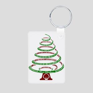 Christmas Tree Aluminum Photo Keychain