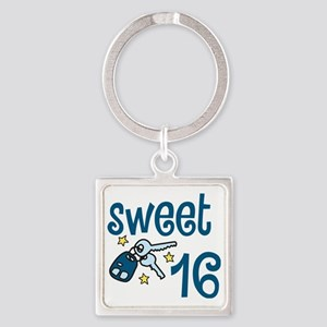 Sweet 16 Square Keychain