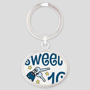 Sweet 16 Oval Keychain
