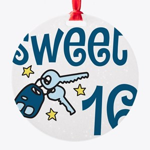 Sweet 16 Round Ornament