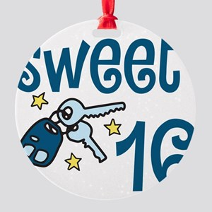 Sweet 16 Round Ornament