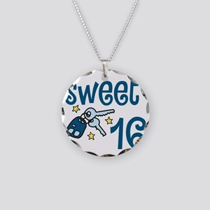 Sweet 16 Necklace Circle Charm