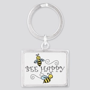 Bee Happy Landscape Keychain