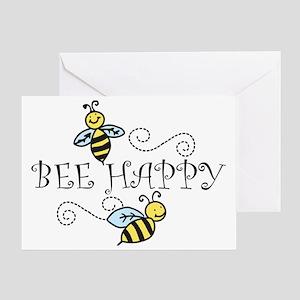 Bee Happy Greeting Card
