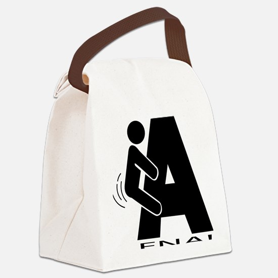 FNA Solid black Canvas Lunch Bag
