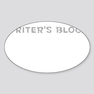 Writers Block Sticker (Oval)