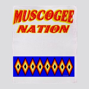 MUSCOGEE NATION Throw Blanket