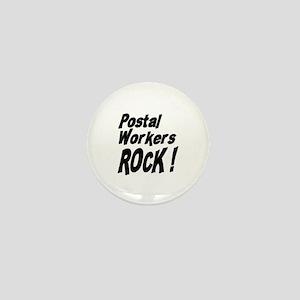 Postal Workers Rock ! Mini Button