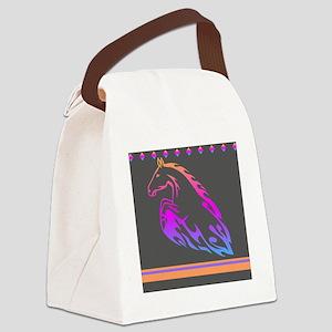 Rainbow Horse Design Canvas Lunch Bag