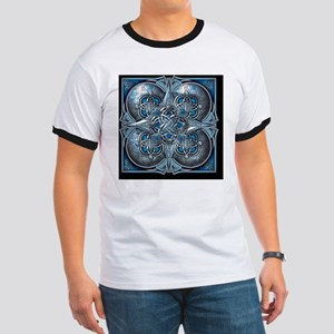 Silver and Blue Celtic Tapestry Ringer T