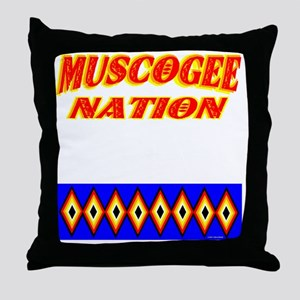 MUSCOGEE NATION Throw Pillow