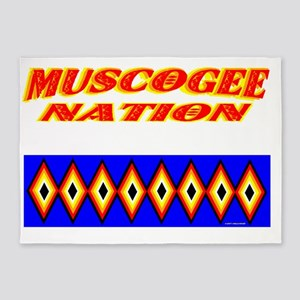 MUSCOGEE NATION 5'x7'Area Rug