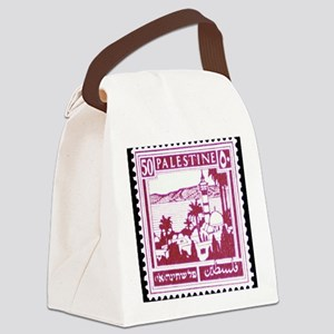 Palestine Vintage Postage Stamp Canvas Lunch Bag