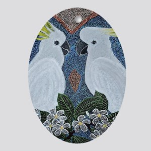 Love of the Cockatoo's Oval Ornament
